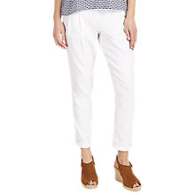 Buy Phase Eight Hattie Linen Trousers, White Online at johnlewis.com