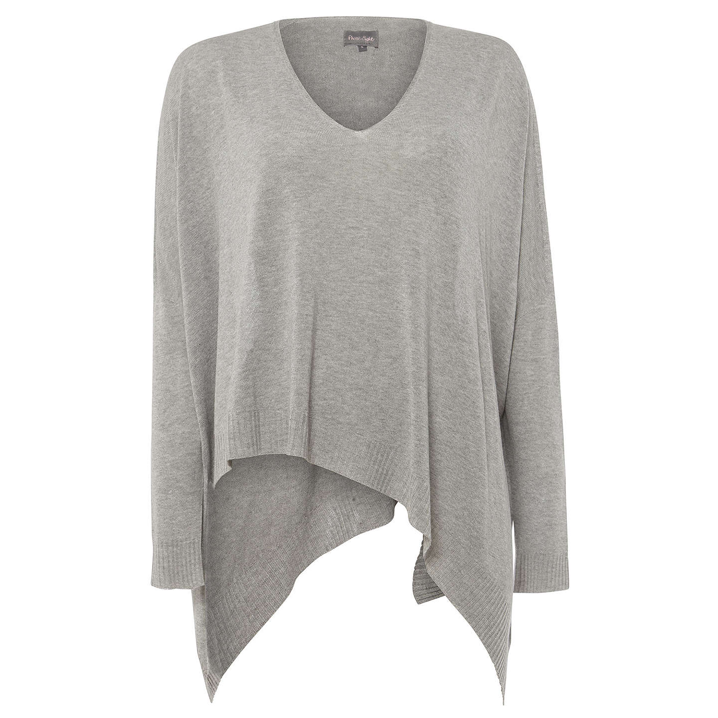 BuyPhase Eight Abaranne Asymmetric Hem Knitted Jumper, Silver, XS Online at johnlewis.com