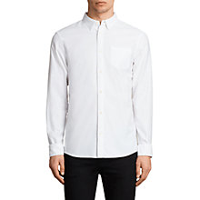 Buy AllSaints Stukeley Slim Fit Oxford Shirt, White Online at johnlewis.com