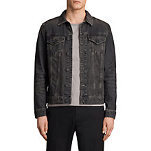 Buy AllSaints Bannock Denim Jacket, Jet Black Online at johnlewis.com
