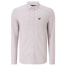 Buy Lyle & Scott Tattersall Long Sleeve Shirt, White Online at johnlewis.com