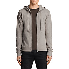 Buy AllSaints Lino Cotton Hoodie, Putty Brown Online at johnlewis.com