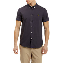 Buy Lyle & Scott Garment Dye Short Sleeve Shirt, Washed Grey Online at johnlewis.com