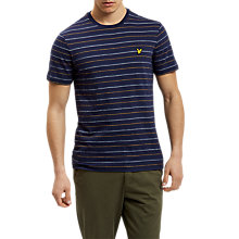 Buy Lyle & Scott Pick Stitch T-Shirt, Navy Online at johnlewis.com