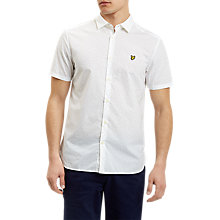 Buy Lyle & Scott Square Dot Pattern Short Sleeve Shirt, White Online at johnlewis.com
