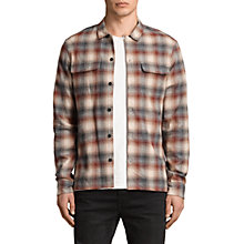 Buy AllSaints Tehama Yarn Dye Check Shirt, Oxblood Red Online at johnlewis.com