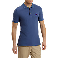 Buy Lyle & Scott Solid Polo Shirt, Storm Blue Online at johnlewis.com