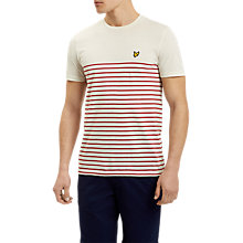 Buy Lyle & Scott Breton Stripe T-Shirt, Pomegranate Online at johnlewis.com