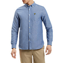 Buy Lyle & Scott Linen-Blend Shirt, Blue Online at johnlewis.com
