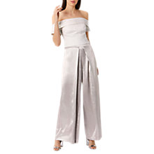 Buy Coast Billie Metallic Trousers, Champagne Online at johnlewis.com