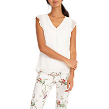 Buy Phase Eight Kelly V-Neck Blouse, Ivory Online at johnlewis.com