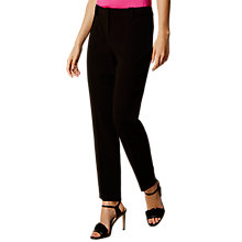 Buy Karen Millen Slim Leg Tailored Trousers, Black Online at johnlewis.com