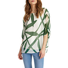 Buy Phase Eight Izzy Vine Print Silk Blouse, Ivory/Green Online at johnlewis.com