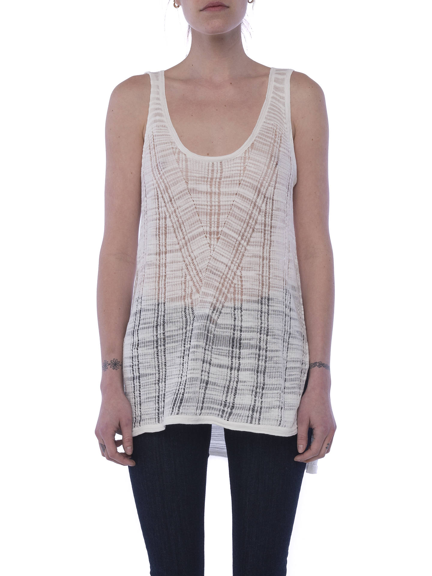 BuyFrench Connection Klint Stitch Knit Tank Top, Summer White, S Online at johnlewis.com