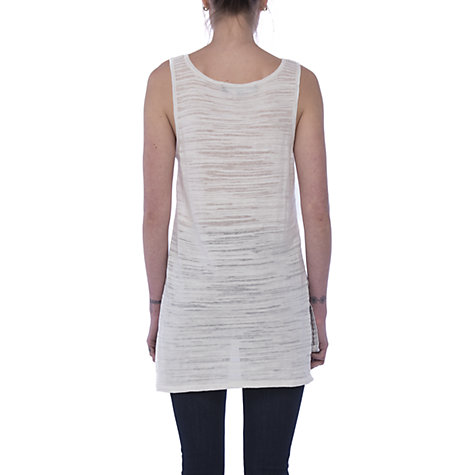 Buy French Connection Klint Stitch Knit Tank Top, Summer White Online at johnlewis.com