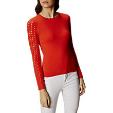 Buy Karen Millen Graphic Jumper, Coral Online at johnlewis.com
