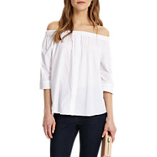 Buy Phase Eight Kayla Cold Shoulder Blouse, White Online at johnlewis.com