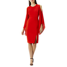 Buy Coast Angelica Drape Detail Dress, Red Online at johnlewis.com