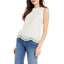 Buy Oasis Deco Lace Shell Top, Off White Online at johnlewis.com