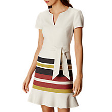 Buy Karen Millen Stripe Tweed Dress, Ivory Online at johnlewis.com