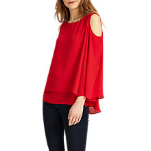 Buy Phase Eight Dania Cold Shoulder Blouse, Red Online at johnlewis.com