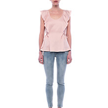 Buy French Connection Nia Drape Fluted Front Blouse, Pink Opal Online at johnlewis.com