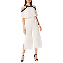 Buy Coast Fei Fei Cold Shoulder Jumpsuit, Blush Online at johnlewis.com