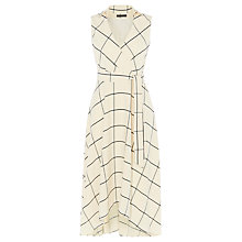Buy Karen Millen Fluid Checked Dress, White/Multi Online at johnlewis.com