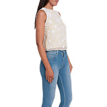 Buy French Connection Dalia Sheer Embroidered Top Online at johnlewis.com