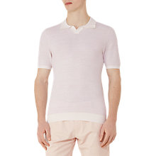 Buy Reiss Thompson Textured Polo Shirt, Pink Online at johnlewis.com