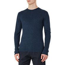 Buy Reiss Tucan Wool Linen Jumper, Indigo Online at johnlewis.com