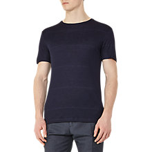 Buy Reiss Cowdry Fleck Stripe T-Shirt, Navy Online at johnlewis.com