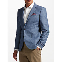 Buy John Lewis Donegal Tailored Fit Wool Suit Jacket, Light Blue Online at johnlewis.com