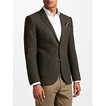 Buy John Lewis Donegal Tailored Fit Wool Suit Jacket, Green Online at johnlewis.com