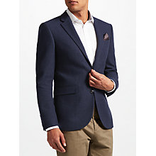 Buy John Lewis Textured Weave Wool Tailored Jacket, Navy Online at johnlewis.com