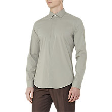 Buy Reiss Mauro Concealed Placket Shirt, Sage Online at johnlewis.com