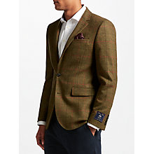 Buy John Lewis Multicheck Tailored Blazer, Green Online at johnlewis.com