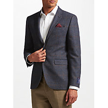 Buy John Lewis Multicheck Tailored Jacket, Navy Online at johnlewis.com