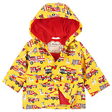 Buy Hatley Baby Firetrucks and Dalmatians Raincoat, Yellow Online at johnlewis.com