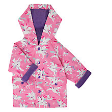 Buy Hatley Baby Winged Unicorn Raincoat, Pink Online at johnlewis.com