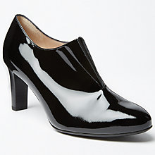 Buy Peter Kaiser Block Heeled Shoe Boots, Black Patent Online at johnlewis.com