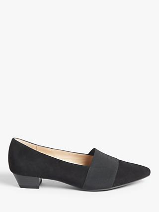 Peter Kaiser Lagos Pointed Toe Court Shoes, Black Suede