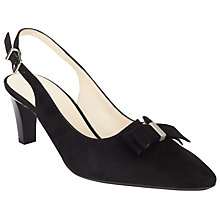 Buy Peter Kaiser Mareike Slingback Court Shoes, Black Online at johnlewis.com