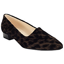 Buy Peter Kaiser Lisana Closed Block Heeled Court Shoes, Leopard Online at johnlewis.com