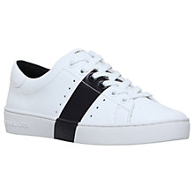Buy MICHAEL Michael Kors Brady Trainers, White/Black Online at johnlewis.com