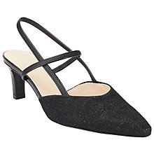 Buy Peter Kaiser Mitty Slingback Court Shoes, Black Online at johnlewis.com