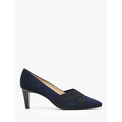 Image of Peter Kaiser Malana Cross Strap Court Shoes, Navy