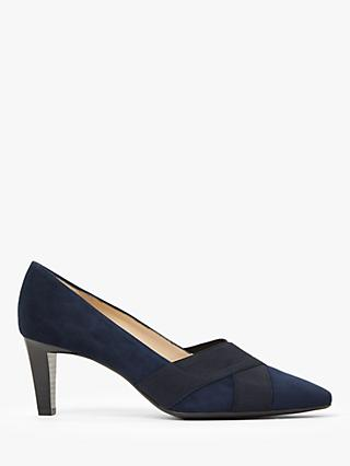 Peter Kaiser Malana Cross Strap Court Shoes, Navy
