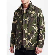 Buy JOHN LEWIS & Co. Made in Manchester Camo Wax Jacket, Green Online at johnlewis.com