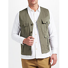 Buy JOHN LEWIS & Co. Made in Manchester Cotton Workwear Waistcoat, Green Online at johnlewis.com